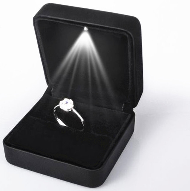 50pcs Led Light Wedding Ring Box Earring Pendant Necklace