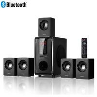 5,1 канальный домашний кинотеатр акустическая система, Bluetooth \ USB \ SD \ FM Радио пульт дистанционного управления Сенсорная панель, Dolby Pro Logic Surround