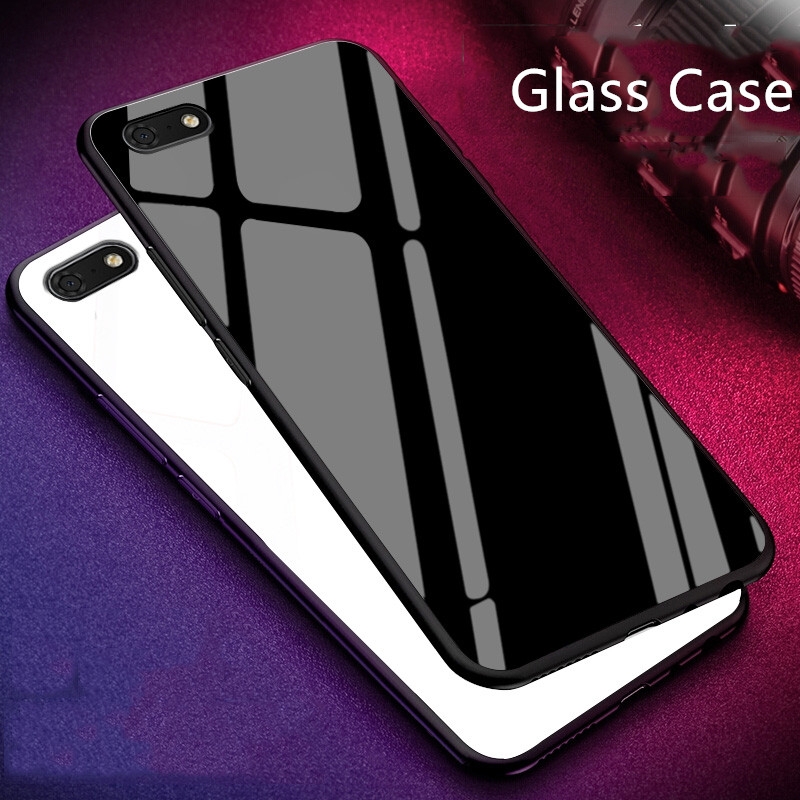 check out 8542a 23a16 US $3.26 29% OFF|For Huawei Honor 7S Glass Case Luxury silicone soft  frame+Glass back Cover Accessories For Honor7S 5.45inch Fundas Cqoue-in  Fitted ...