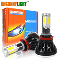 CNSUNNYLIGHT H11 H8 LED Car Headlight Bulbs 80W 8000LM 3000K 6000K 8000K COB Head Fog Lights Auto Headlamp 12v 24v w/ Turbo Fan
