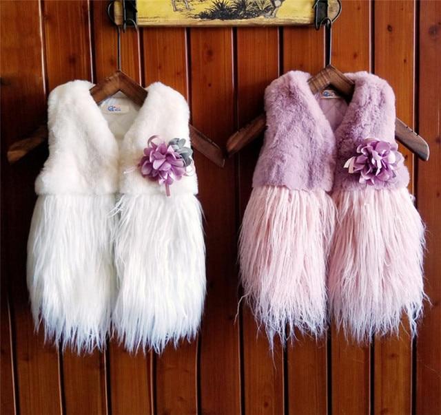 d7d80fc13 Girls Vests Children s tassel Warm Vest Girl Fashion Waistcoat High ...