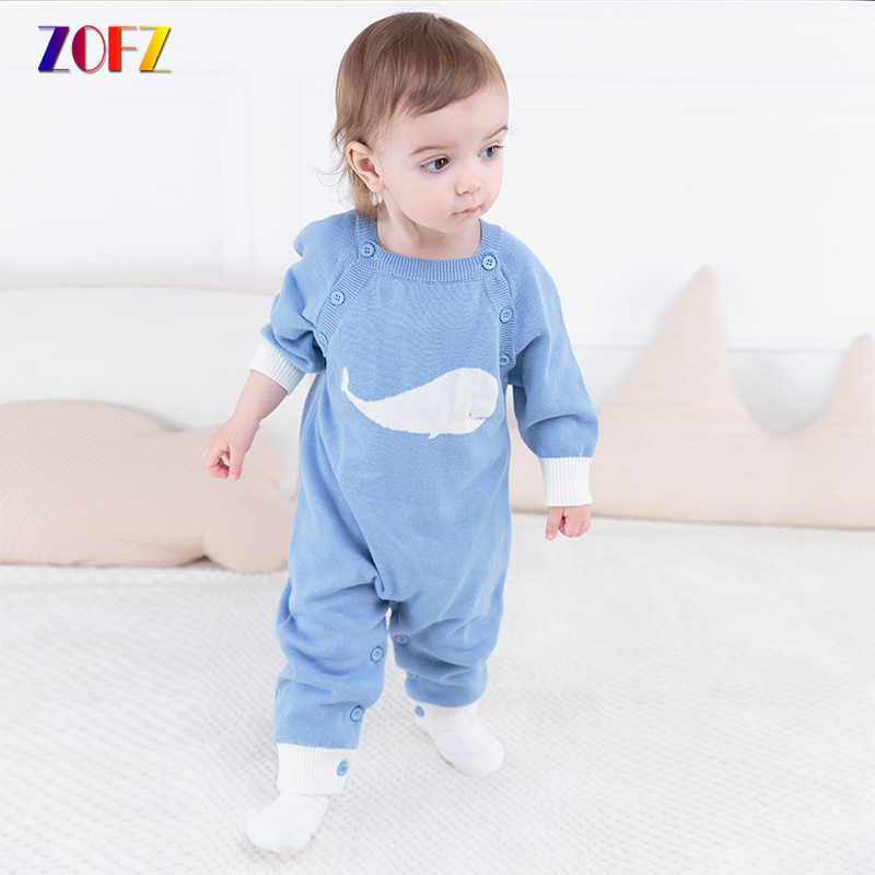 ZOFZ Baby Clothes for Girls Cute Long Sleeve Jumpsuit Cotton O-Neck Baby Rompers for Kids New Autumn Romper Clothing for Babies cute back wings baby rompers long sleeve gray white cotton kids boy girls romper jumpsuit infant baby autumn clothes outfits