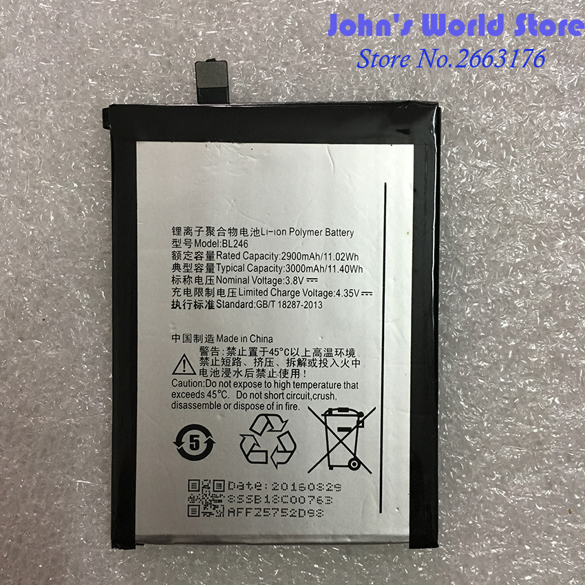 Battery Z90a40 BL246 Lenovo Mobile-Phone 3000ma Ce for Vibe/Shot/Z90-7/.. Back-Up title=