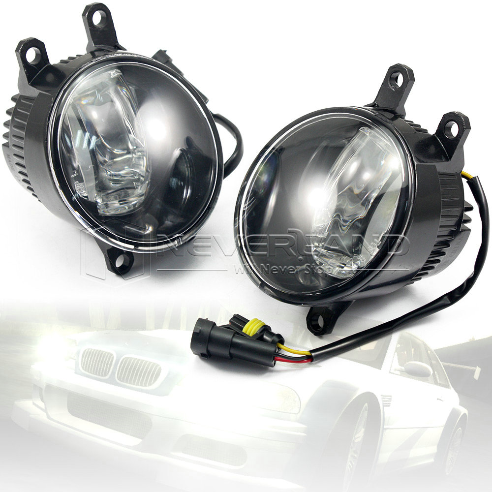2pcs Super Bright Car Styling Universal LED Daytime Running Lights Fog Lamp Bulb DRL White Wholesale D20