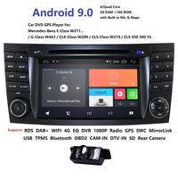 Android Car DVD radio for Mercedes Benz W211 W463 W209 W219 2002 2009 Support Mirror link video output wifi DVR Reverse Camera