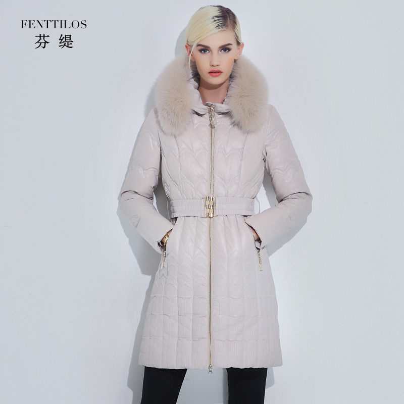 2015 new Hot winter Thick Warm Woman Down jacket Coat Parkas Outerwear Hooded fox Fur collar Luxury long plus size 2XXL Simple free shipping woman with thick warm winter leather fox fur fur fashion coat m xxl