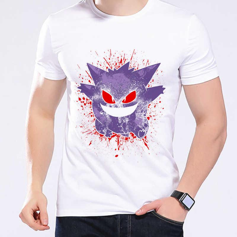 06742453b Pokemon Go Men T-shirt Mega Gengar Pikachu Summer Casual Printed Tees Anime  Cartoon Clothing