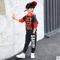 Boys Sports Clothing Set 2019 New Autumn and Spring Kids Clothes Sets Children Clothing Set Suits 3 Letter Colors Size4 14 ly091