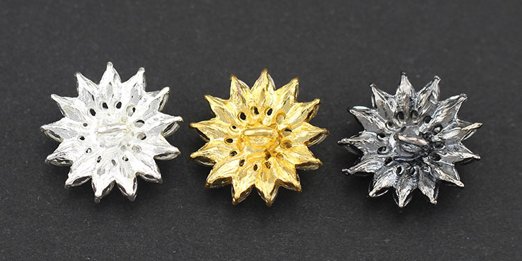 10pcs Meetee Crystal Rhinestone Buttons Diamond Buckle Flower shaped Glass Diamond Button for Fur Coat Wedding Scrapbooking in Buttons from Home Garden