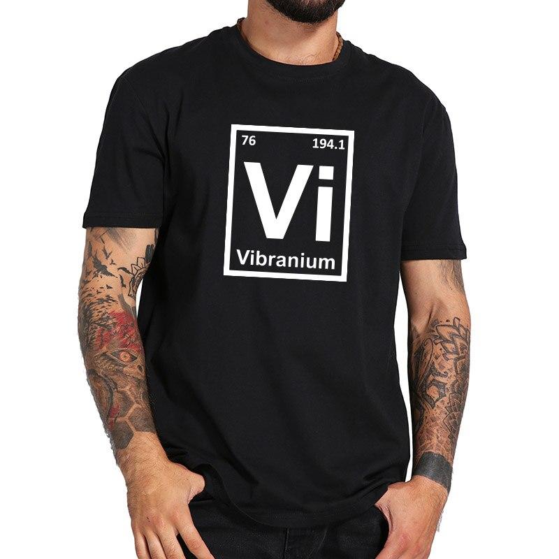 Mayma Geek T shirt Vibranium VI Element Shirts Homme Top Quality Cotton Science t shirt US Size Wakanda Forever