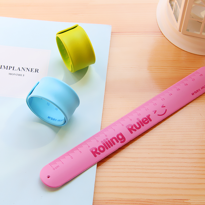 Children's Folding Ruler  Pupils Straight Ruler Colour Soft Ruler Hand Ring Ruler