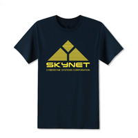 High Quality Customized Science Fiction Film Skynet Systems Corporation Printed T Shirt Tee Shirts Cool Tops