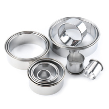 14Pcs Round Circle Moulds Stainless Steel Baking Tools Making Cakes DIY Molds Set Hot Sale