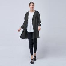 ZYSK 2018 Autumn Casual Trench Coat for Women Brand New Office Lady Thin Loose Long Coat Casaco Feminino Abrigos Mujer Outerwear