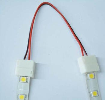 LED strip IP65 connectors with two side cable  8mm/10MM width single/RGB led strips 30-120leds/m