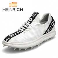 HEINRICH 2018 Hot Sale Fashion Brand Sneakers Shoes Men High Quality Weave Casual Breathable Male Shoes Zapato Hombre Piel
