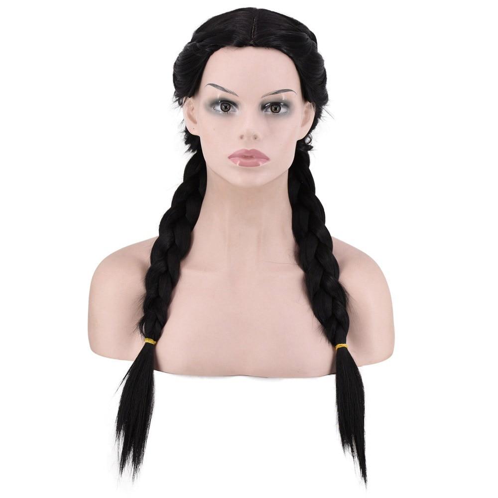 Yummy Bee Wig Plaits Costume Brown Dorothy Oz Women Doll School Girl Fairytale