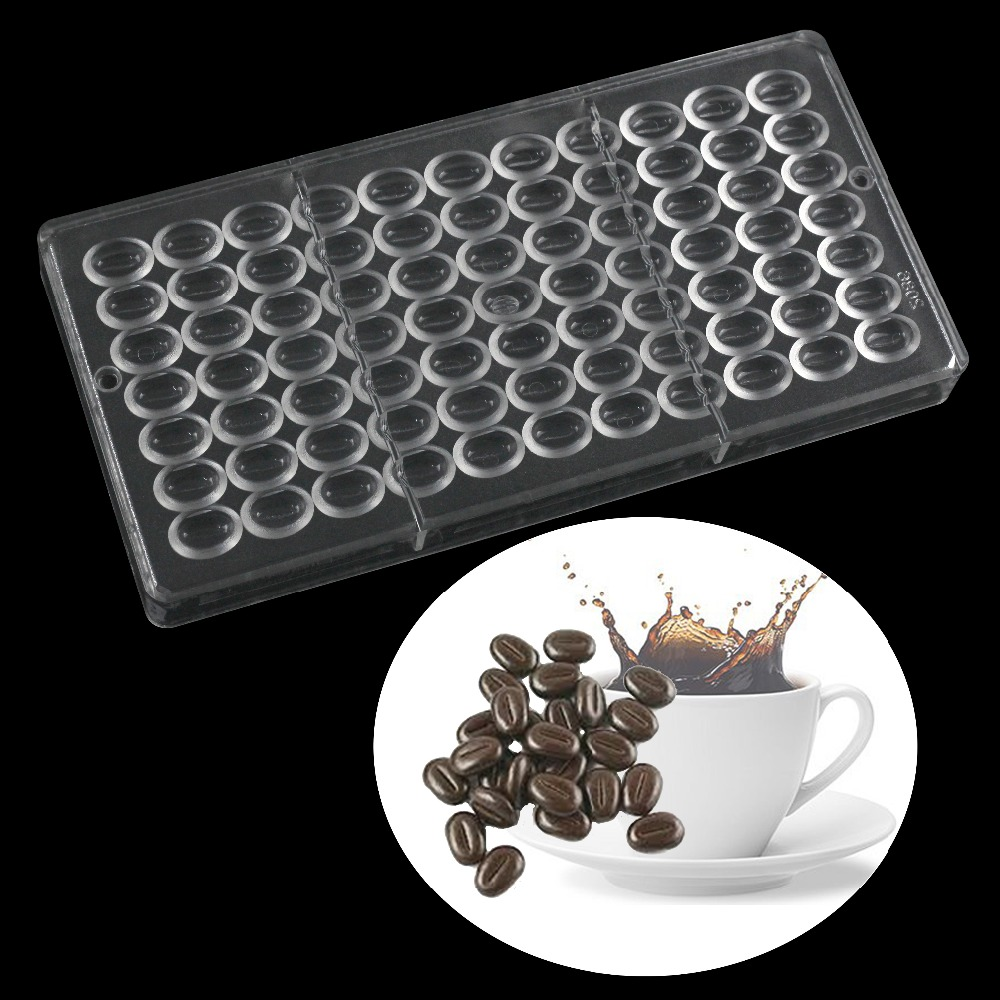 Coffee beans shape Polycarbonate chocolate mold,pastry tools kitchen baking mold accessories cake decorating tools image