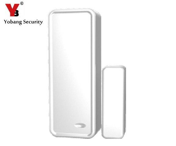 YobangSecurity 433MHz Wireless Magnetic Door Sensor Detector Door Contact Detect Door Close Open for G90B WIFI GSM Alarm System