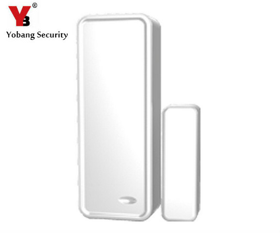 YobangSecurity 433MHz Wireless Magnetic Door Sensor Detector Door Contact Detect Door Close Open for G90B WIFI GSM Alarm System wireless door window detector sensor for alarm system detect door windows drawer illegally open and close window magnetic 2pcs