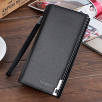 2018 New Fashion Clutch Male Leather Wallet Phone Bags For IPhone 7 6 6s Plus 5