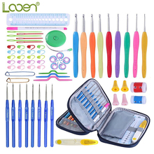 Looen Brand Crochet Hooks Set 68pcs Mix 17pcs Yarn Knitting Needles With Blue Case DIY Craft Tool Accessories