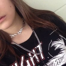 Harajuku Jewelry Flame Necklace Streetwear Accessories  Choker Necklaces Concatena Rock Chain For Man Wholesale & Dropshipping