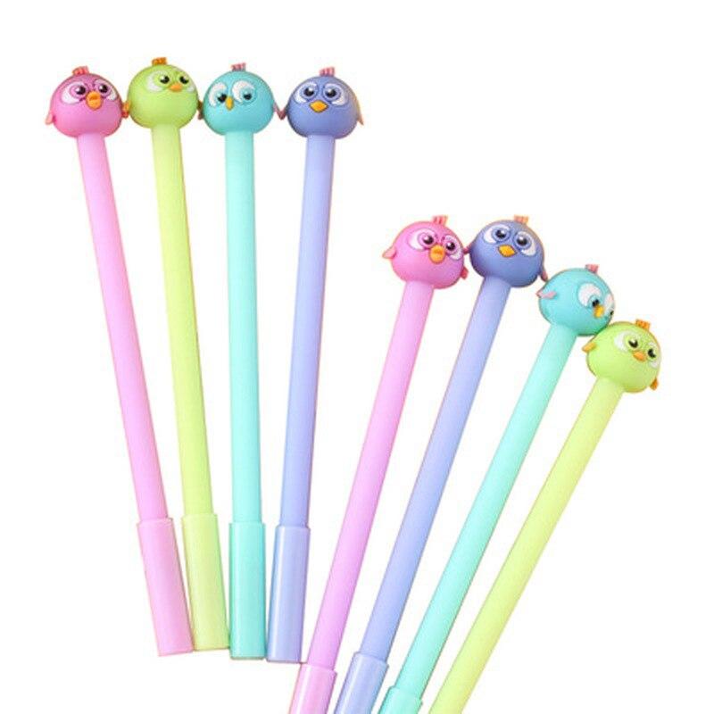 1pcs Bird Gel Pen Stationery Cute Pen 0.38mm Kawaii Cartoon Gel Pens Kawaii School Supplies Cute Pens And Pencils Stationery