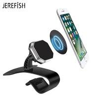 JEREFISH Dashboard Montar Titular Do Telefone Car Universal phone Holder para Celular Smart Phone GPS Suporte Grampo Clipe Suporte
