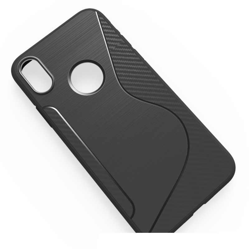 Простой гибкий Противоскользящий защитный чехол для iPhone 8 X силиконовый S LINE TPU резиновый матовый чехол для iPhone X 8 Plus