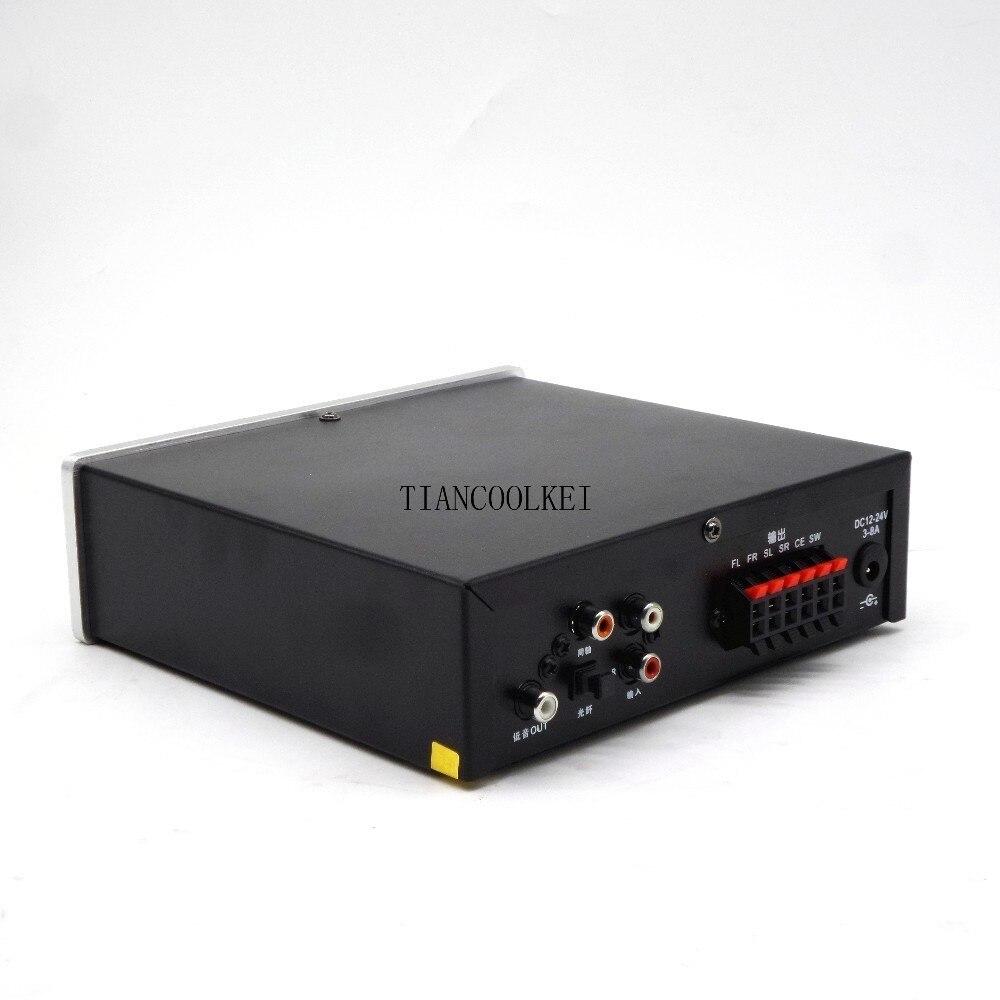 5,1 amplificador Digital con sistema de sonido Home Theater de 6 canales con fibra Coaxial DTS AC3 decodificación de Audio música sin pérdidas - 5