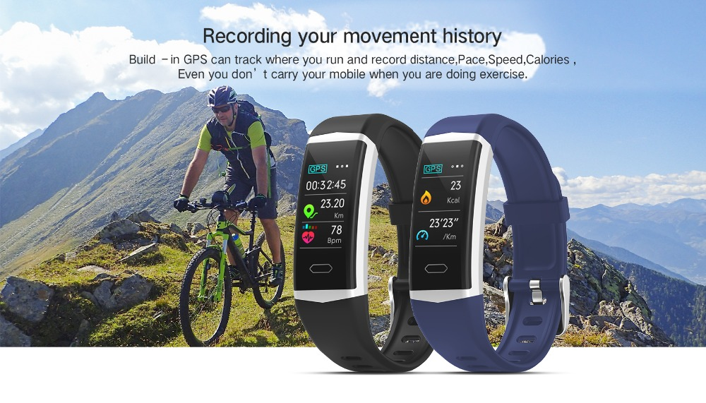 SCOMAS GPS Smart Watch Men Women Heart Rate Monitor Blood Pressure Fitness Tracker Smartwatch ip68 Sport Watch for ios android