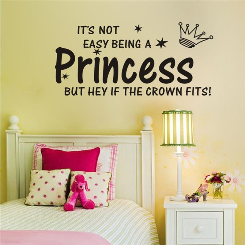 princess crown quotes wall stickers decorations 8135. diy home ...