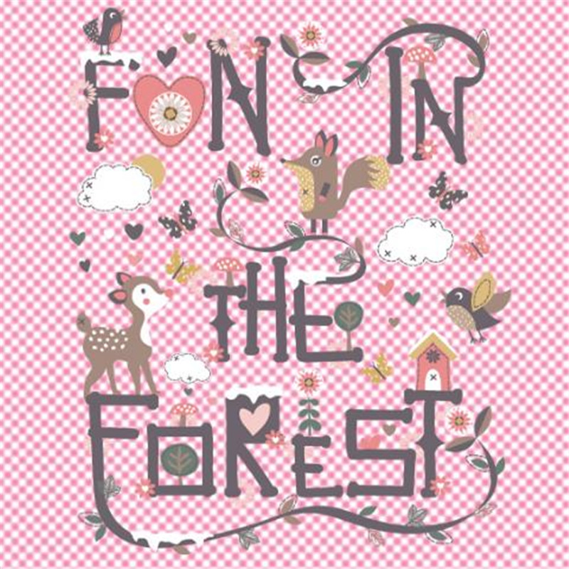 Forest animal deal with it pvc patch iron on transfers for clothing heat transfer patches for clothes baby t shirt 3d stickers