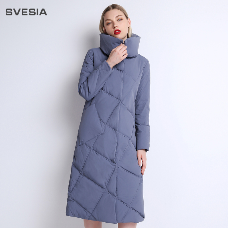 SVESIA 2018 winter duck down jacket women long coat parkas thickening Female stand collar high quality Warm Clothes