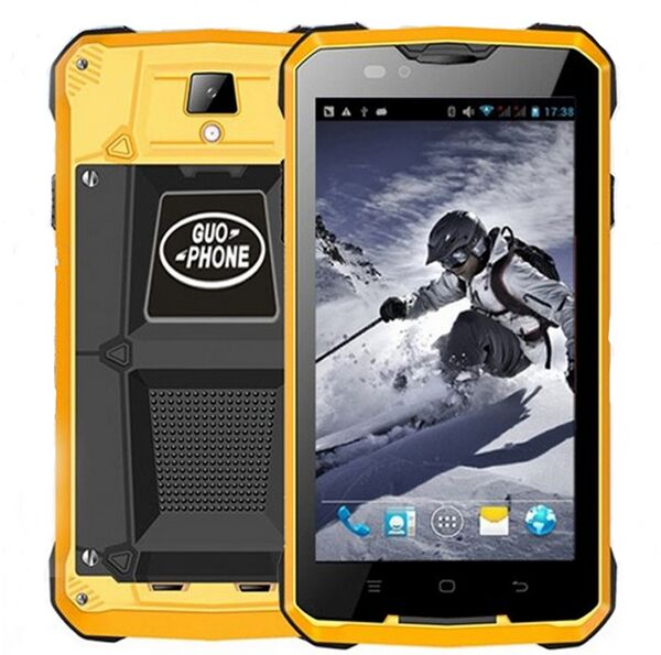 Цена за GUOPHONE V12 Android 4.4 Смартфон Водонепроницаемая Пыле Противоударный 5 Дюймов MTK6572 Двухъядерный 1.3 ГГЦ 4000 мАч 3 Г GPS мобильный Телефон