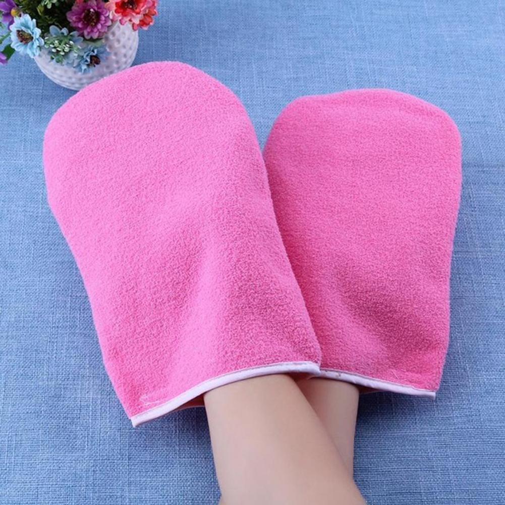 1 Paar Paraffin Wachs Heizung Schutz Hand Handschuhe Fuß Umfasst Pediküre Werkzeug Heißer Verkauf