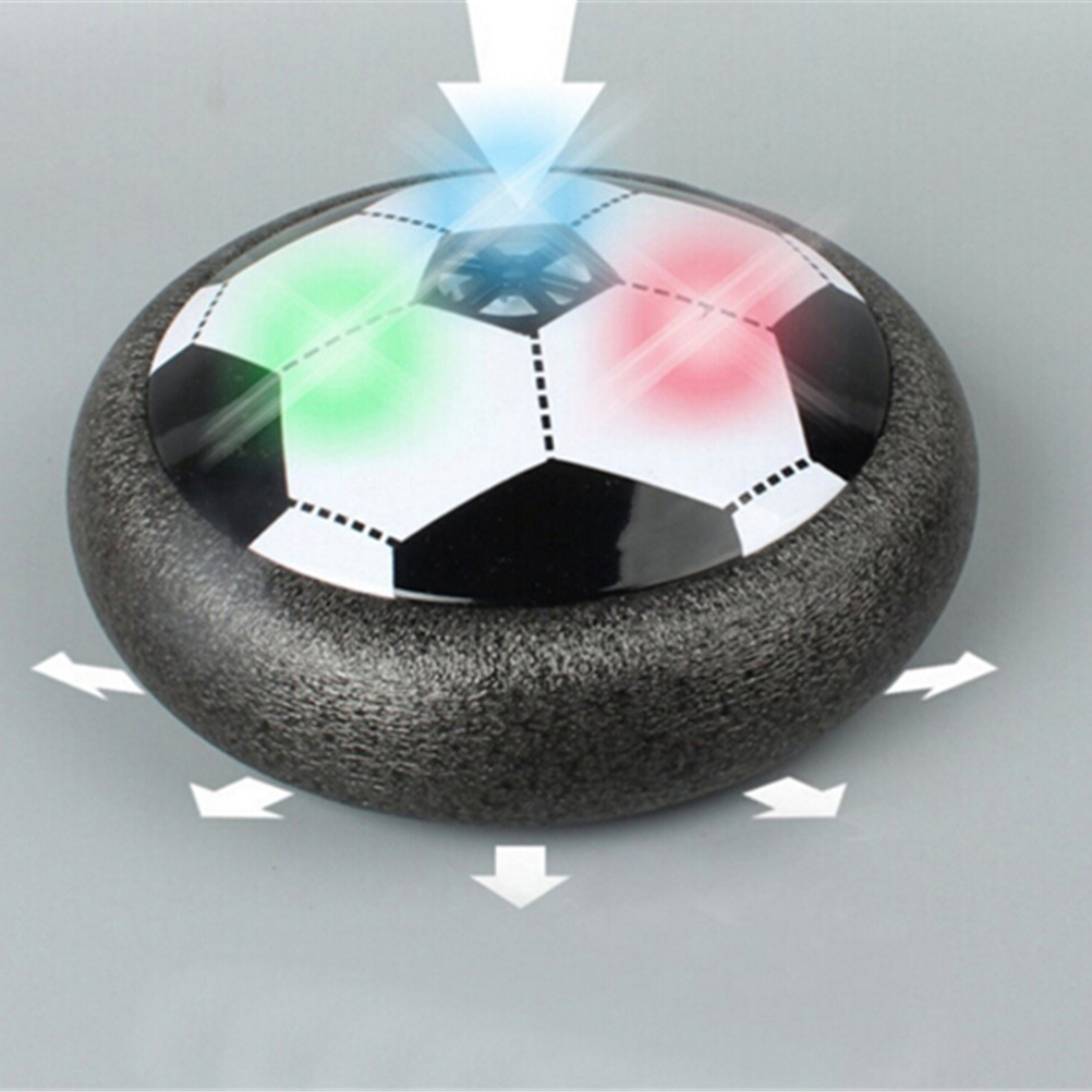 1PCS Funny LED Light Flashing Arrival Air Power Soccer Ball Disc Indoor Football Toy In box Multi-surface Hovering Gliding Toy soccer balls size 4