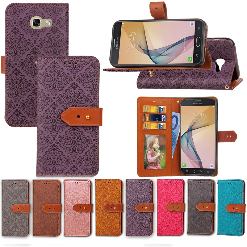 Luxury Flip Retro Leather Wallet Case For Samsung Galaxy J5 Prime SM-G570F/Samsung Galaxy J7 Prime on7 Case Cover Coque 5.5 inch