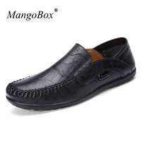 MangoBox Spring Big Size 39 47 Men Driving Footwear Adult Brown Casual Sneakers Fashion Boat Shoes