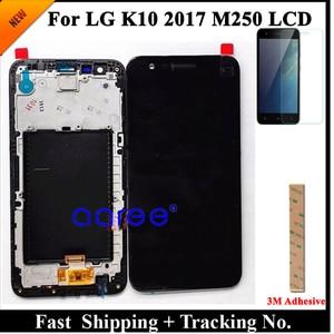 Image 1 - 100% протестированный ЖК дисплей для LG K10 2017 ЖК дисплей для K10 2017 дисплей M250 M250N M250E M250DS ЖК экран сенсорный дигитайзер в сборе
