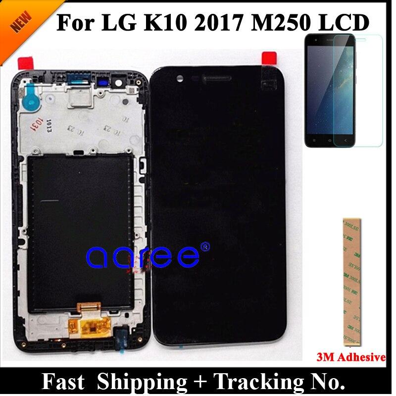 100% протестированный ЖК дисплей для LG K10 2017 LCD для K10 2017 дисплей M250 M250N M250E M250DS дисплей ЖК экран сенсорный дигитайзер сборкаЭкраны для мобильных телефонов   -