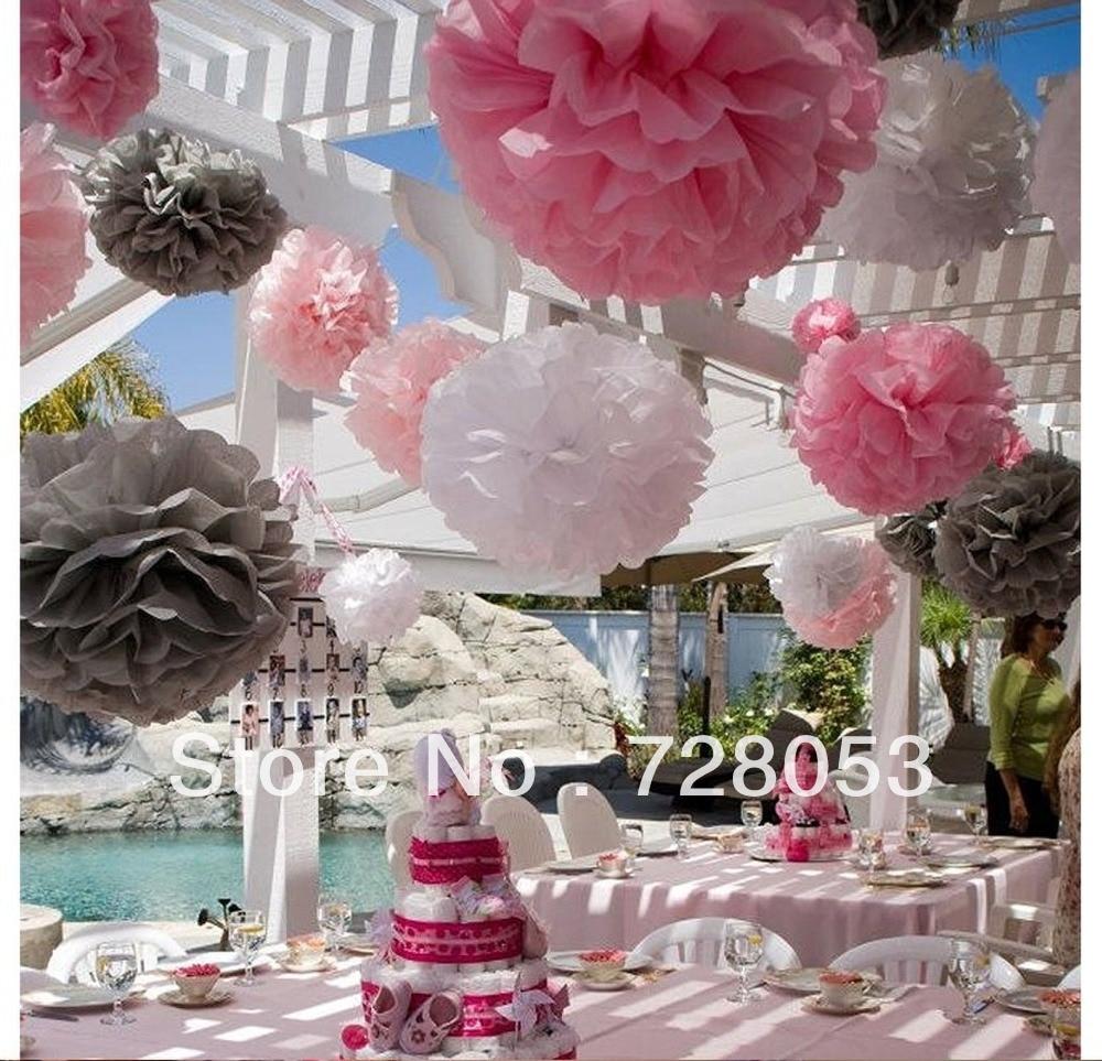 Hanging Pom Pom Decorations Aliexpresscom Buy 6 15pcs Tissue Paper Pom Poms Flower Balls