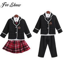 b61787fd6a9ceb Jungen Mädchen Britischen Stil Schuluniform Anime Kostüm Japanische  Schuluniform Langarm Mantel mit Hemd Krawatte Hosen