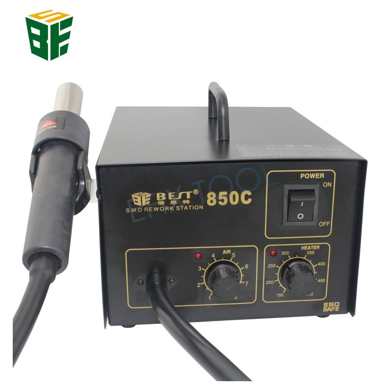 BST-850C Lead Screw Type Hot Air Gun Temperature Adjustable Rework Station Desoldering Welding Tool