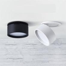 Встраиваемый светильник, складной гипсовый потолочный светильник с порошковым покрытием, вращение на 360 градусов, 85 265 В переменного тока, 3 Вт/5 Вт/7 Вт/12 Вт, 3 дюйма