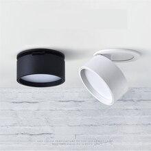 85 265Vac 3W/5W/7W/12W 3 inç gömme ışık, katlanabilir 360 derece dönebilen toz boyalı alçı tavan zemin duvar yıkayıcı