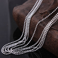 wholesale silver plated beads chain for pendant vintage jewelry women hot 16 18 20 22 24 26 28 30 inch ball beads chain necklace