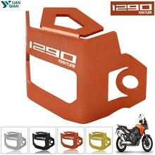 For KTM 1290 SUPER ADVENTURE Motorcycle Rear Brake Fluid Reservoir Guard Cover Protect Super Adventure R/S/T