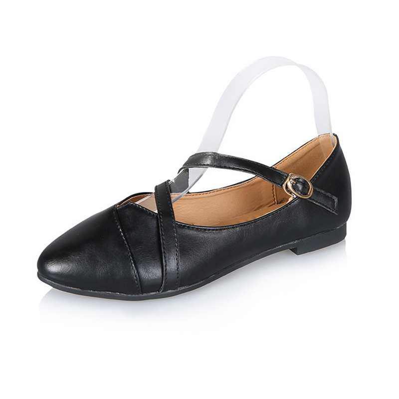 Ballet Flats Women Autumn Women Loafers Buckle Casual Shoes Leather Shoes Moccasins Slip On Woman Shoes chic glitter shoes women loafers black silver lace up bowknot casual ballet flats slip on rhinestone sneakers sequins moccasins